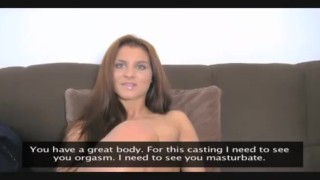 A pov woman's femaleagent casting blonde