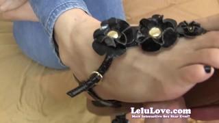 Lelu Love-Sandals Black Nails Footjob