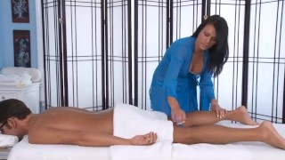 Ashli Ames Massages a Tired Traveler