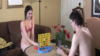 Addie and Simon Play Strip Four In A Row