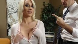 Stunning busty bombshell Lexi Swallow seduces her boss