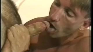 Wide  scene open hairy cock