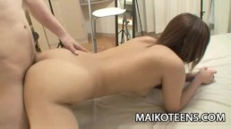 Teen Japanese Nozomi Kahara is eager for sexual pleasure