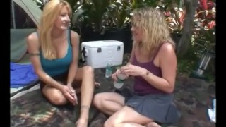 Wifes First Time Fucked by Another Girl  lesbian pussy licking sex toys homegrownwives outdoors homemade strapon dildo wife amateur