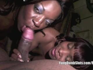 Yung Dumb Sluts snowballs with Lisa Rivera