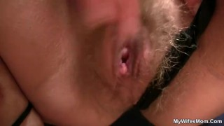My wife watches I'm fucking her mom Ass shaved