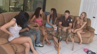 Funny Strip Poker At Teen Sex Party