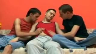 Men horny threesome fucking men