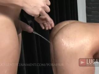 Hung arab top pisses on bottom then fucks him