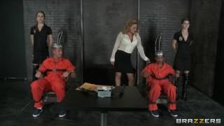 Two death row inmates get one last threesome with Krissy Lynn porno