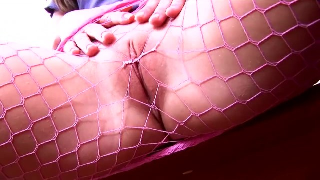 Pigtails big tits jessi summers - Petite pigtailed brunette teases and masturbates in fishnet pantyhose