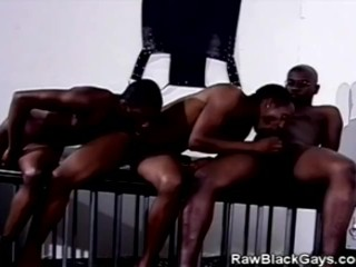 Black men threesome...
