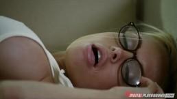 Big-tit blonde babe Jesse Jane loves to deepthroat her man