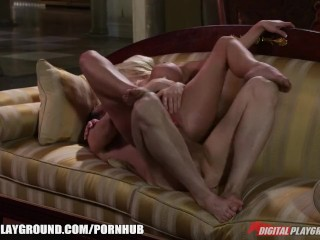 Hardcore big-tit blonde Jesse Jane bounces on her man's big cock
