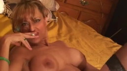 Hot sandy Smoking, Toying and Squirting