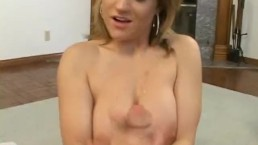 Busty milf has fun with a tiny pecker
