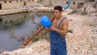 Hot Bodybuilder Outdoors