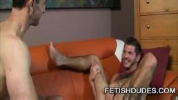 Fetish Dude Steven Richards Worshipping The Hairy Ass Of Tristan Mathews