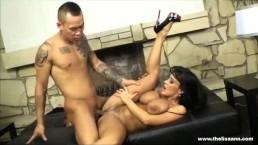 AMWF Lisa Ann interracial with Asian guy