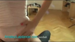 Lapdance and facial with cute czech teen