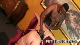 Black stud Hole Hunter giving disciplinary action to his partner TJ Gold porno