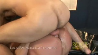 Hung top gets feet worshipped by muscle bottom then fucks him hard Bareback doggy