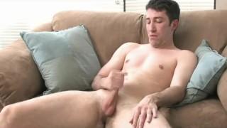 Doing work college boy his horny jerking masturbation
