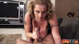 Busty Laura Orsolyas cock sucking POV Style