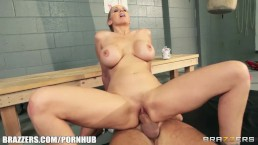 Dominant blonde trainer Julia Ann gets a good deep fucking