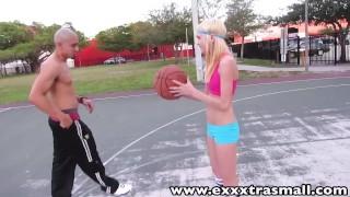 Preview 2 of ExxxtraSmall Young petite Chloe Foster sucks fucks big dick