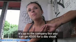 PublicAgent HD Busty brunette gets wet fucking in the thunder storm outdoor