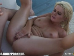 Alexis Ford oils up her perfect round ass for some rough anal