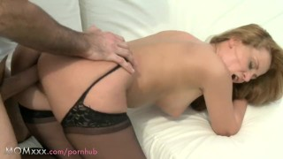 MOM Redhead MILF with big tits and huge ass Milf cumshot