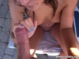 Red tube amateur outdoor blowjob