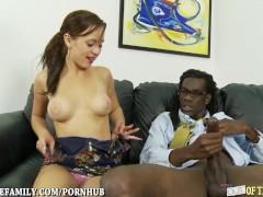 Tattooed Teen Loves Big Black Cock in her Cunt