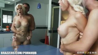 Teen her incredibly hot neighbor seduces blonde older tease big