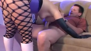 Hardcore anal sex and atm in fencenet pantyhose boots a corset and gloves Homemade girl