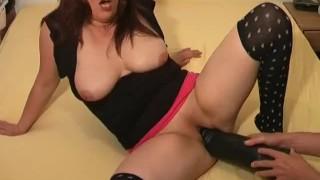 Colossal dildo fucking extreme amateur slut