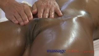 Massage Rooms Black girl orgasms after erotic session Massagerooms fingering