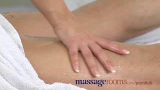 Massage Rooms Foot rub and oil sex with busty masseuse Cock titty