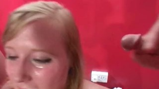 Satine british teen spark debut pornstar party bukkake cum blonde