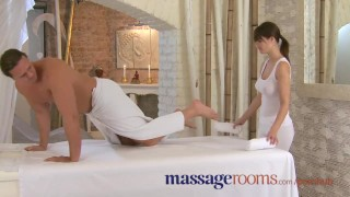Massage Rooms Dripping wet juicy sex after sensual foreplay Mother on