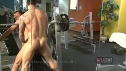 Huge dick top stretches jock bottom