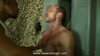 Military Jack Off Threesome gay