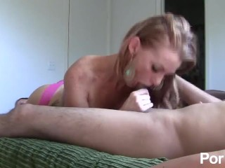 Amateur Big Tits Milf Sucks Her Husband And Takes Cum On Her Tits