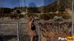 Huge-Tit Babe Teases You Outside