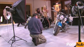 2 Small tittied teens at a bike-show - Julia Reaves Solo tits