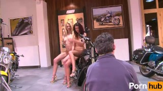 A small  teens tittied julia at bikeshow reaves teenager bike