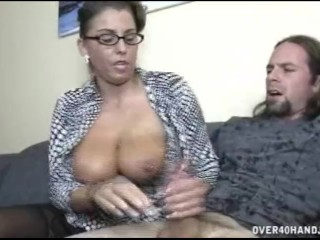 Anita Pearl sexy babe strip teasing at the stairs -...