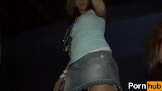 Club scene flashers  night chubby clubbing